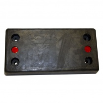 "RM-BB 12"" x 24"" x 4"" Molded Rubber Bumper"